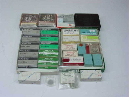 Lot of Medical Micro Slides Assorted sizes/types/brands  Various Medical Industry Brands