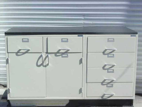 VWR SCIENTIFIC Work Surface  6 Drawer Laboratory Cabinet w/5' Table Top