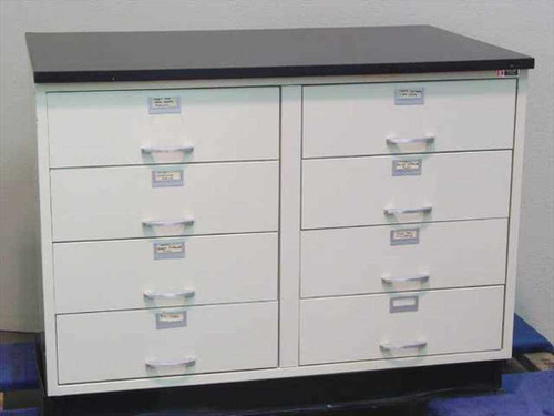 Kewaunee Scientific Corp. Work Surface  8 Drawer Laboratory Cabinet w/4' Table Top