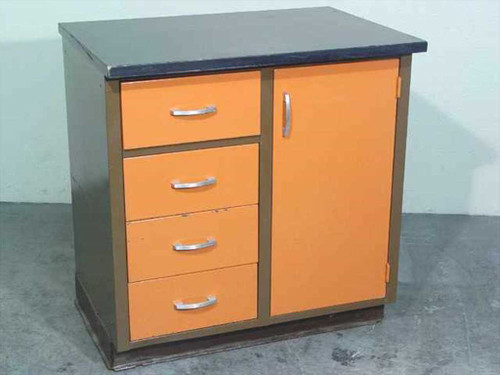 Medical Laboratory 3' Table  3' Table w/4 drawers and cabinet