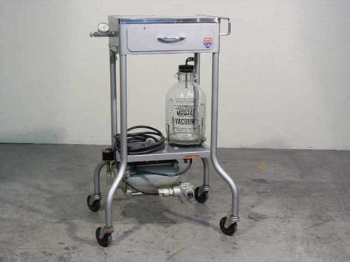 Gomco Surgical Mfg Corp 901  Portable Vacuum Suction Pump Table with Jar