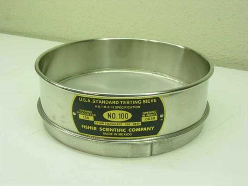 "Fisher Scientific Company No. 100  8"" U.S.A. Standard Testing Sieve"