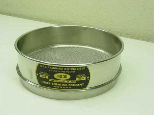 "Fisher Scientific Company No. 30  8"" U.S.A. Standard Testing Sieve"