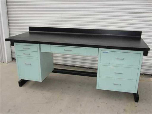 Laboratory 7 Drawer  7' Medical Lab Bench Workstation Desk with Surface