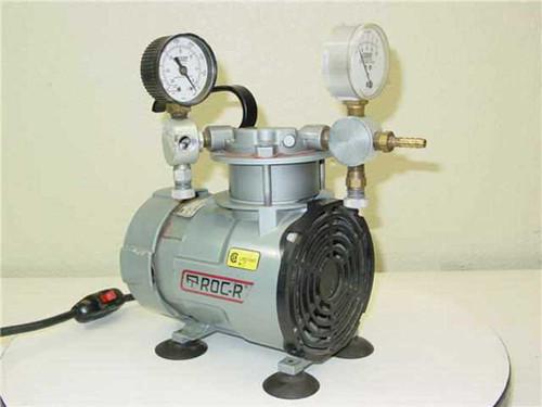 Gast ROA-P131-AA  Oiless Lab Vacuum Pump / Air Compressor