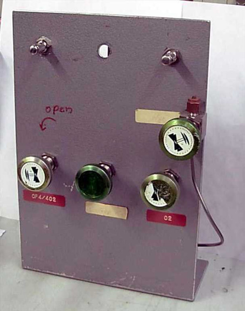 Nupro SS-2H  High Vacuum Valves on panel