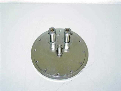 Vacuum Flange with 2 Coaxial Feed Through  26 GHz N