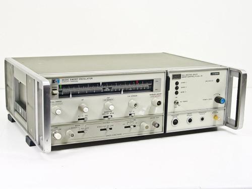 HP 8620C  Sweep Oscillator w/ HUGHES Millimeter-Wave V-Band RF Sweep Plug-In