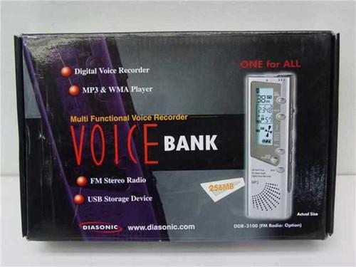 Diasonic DDR-3100  Voice Bank 256MB Digital Voice Recorder - FM Radio