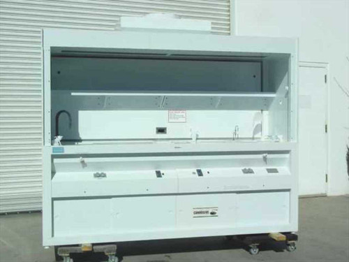 SPEC SPH8-30  8' Polypropylene Wet Bench w/Fume Hood & Sink Lights