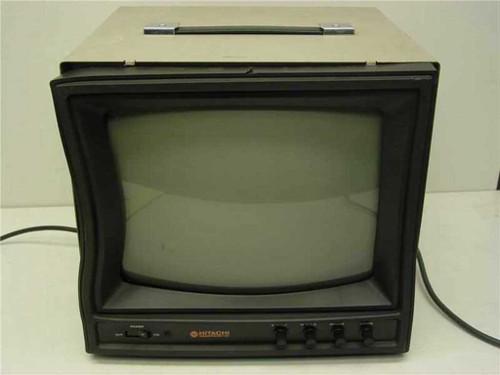 "Hitachi VM-129U  12"" B&W Black and White Video Monitor - Warped Cas"