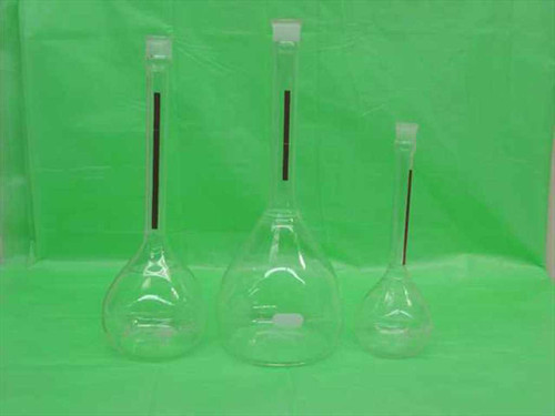 Pyrex / Kimax Flask Set  200ml 500ml Volumetric flasks