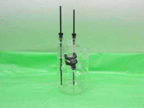 EG&G Parc Glass  Reaction Vessel with Graphite Electrodes