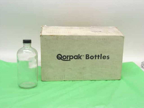 Qorpak Clear  16 oz. Boston Round Bottles w/caps - box of 11