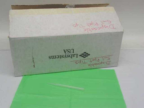 Disposable 000-9402-090  5 ml plastic pipets - box of approx. 1,000
