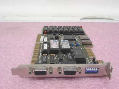 Trident Super VGA-16C  Dual Video Card - 9 pin Digital 15-pin Analog