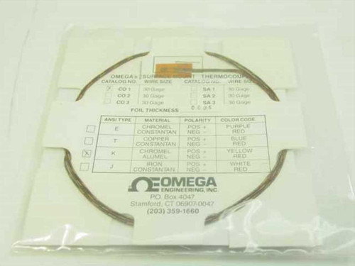 Omega Engineering CO1  Cement-on K Type Thermocouple - New