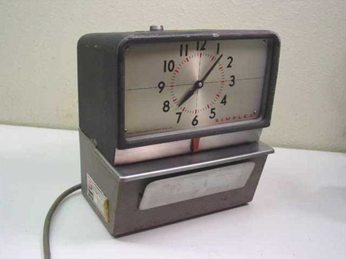 Simplex Time Recorder Co KCF1R3  Vintage Intermittent Time Recorder - Missing Glass