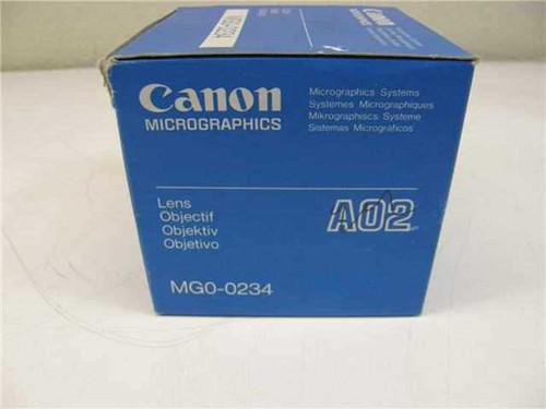 Canon Micrographics AO2  MGO-O234 Microfiche Reader AO2 Micro Lens