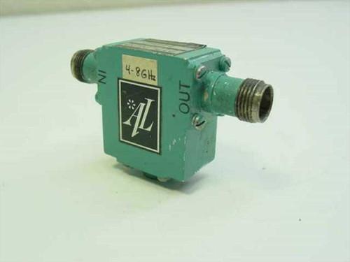 Addington Laboratories 217-0600  Isolator 4 - 8 GHz