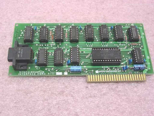 Apple 820-0027-01  Sync Printer Interface Card Silentype