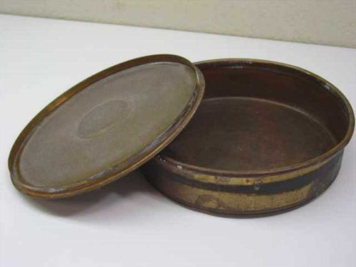 "WS Tyler, Inc Brass  Sieve Lid and Bottom Canister - 8.5"" Diameter"