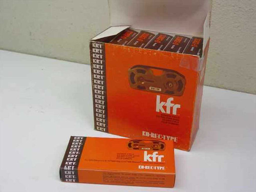 KRT 3382-0  KFR KO-REC-TYPE Black Typewriter Film Ribbon 6 in