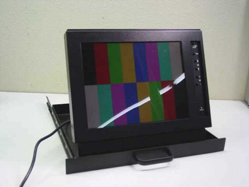 "General Devices RRM-505B  15"" LCD RackMount Monitor in Slideout Drawer"