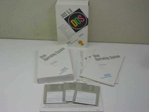 "IBM DOS 5.0  Disk Operating System 3.5"" Diskettes"