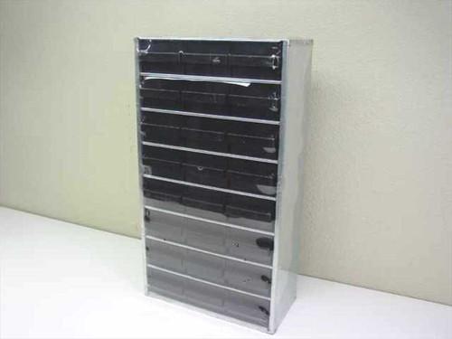 Metal Storage  Shelf with 24 Plastic Drawers - 12x5.75x21.75