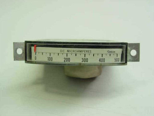 Simpson 1622  0-500 DC MicroAmps Gauge