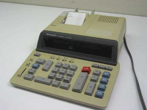 Sharp QS-1760A  Compet Calculator - Yellowed Plastic