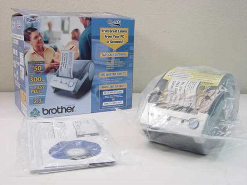 Brother QL500  PC Label Printer w/ Manual and Driver - New