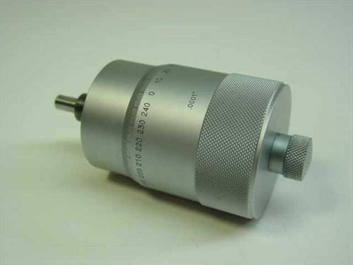 """Brushed Aluminum 1"""" Stroke  Micrometer Barrel 0.0001"""""""