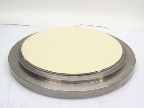 """Stainless Steel 17.5"""" Diameter  2"""" Thick Round with Ceramic Disc Attachment"""