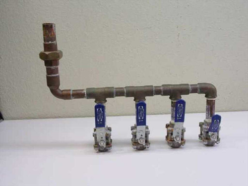 Copper 4 Valve  Chill Water Manifold