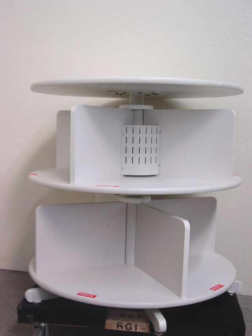 Rotating 2-Tier  Binder Carousel with Worktop and Legs