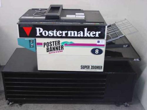 Graphic Enterprises Q205  Zoomer Q205 Postermaker Copier Machine on Rack