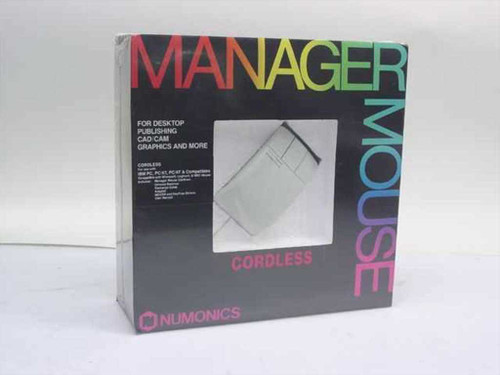 Numonics Manager Mouse  Cordless Mouse - Vintage three button - In Box