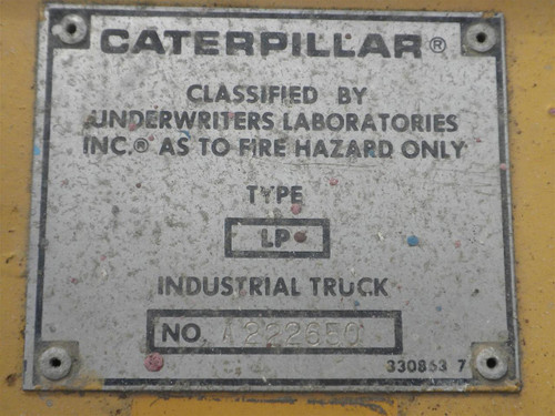 Caterpillar T40D  4000 Pound Propane Powered Forklift - As Is