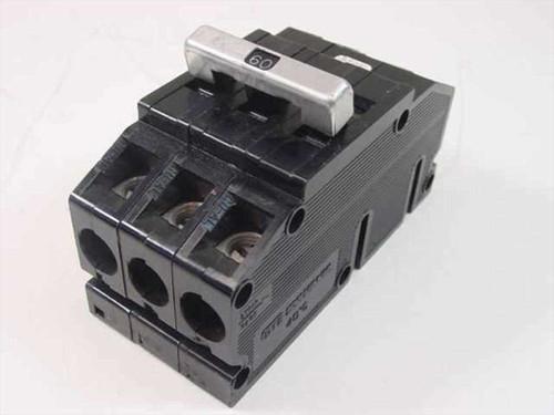 GTE Sylvania LJ-6671  Type Q24B1 3 Pole 60 Amp Circuit Breaker