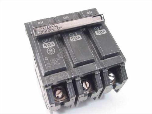 GE RV-2937  Type THQB 3 Pole 50 Amp Circuit Breaker
