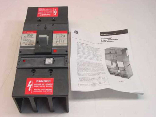 GE SGLA36AT0600  Spectra RMS G Frame Molded Case Circuit Breaker 60