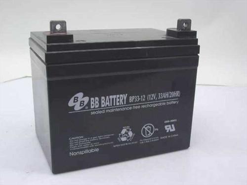 BB Battery BP-33-12  12V/33Ah/20Hr. Battery