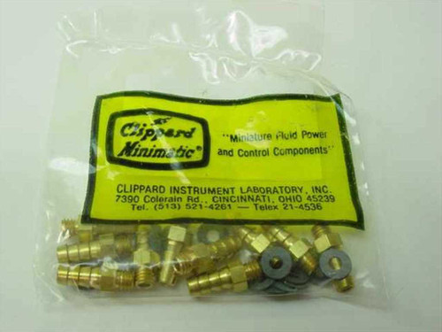 Clippard Minimatic 11752-3  10/32 to 1/8 Hose Barb - Short