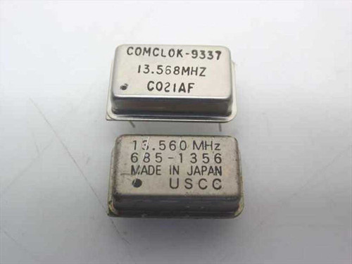 USCC 9337 / 685-1356  Unit Crystal Oscillators - 1 is 13.568 other 1 is