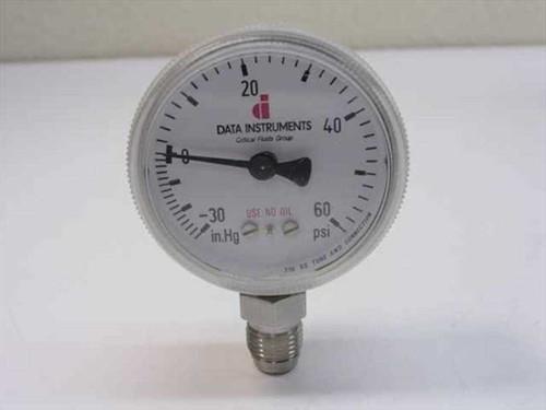 Data Instruments Custom  Vacuum-Pressure Gauge 30 Inch HG to 60 PSI