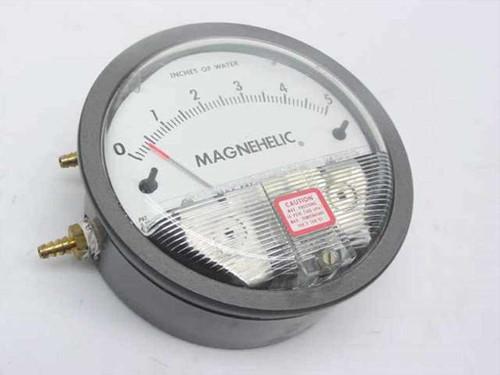 "Dwyer  2005  Magnehelic Low Pressure Gauge 15 PSIG - 0 to 5"""