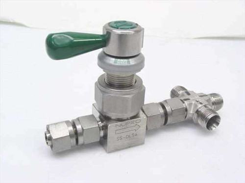 Nupro SS-DLS6  Stainless Steel Valve w/cross fitting