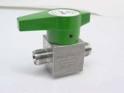 "Nupro SS-6P6T  1/2"" Diameter Ball Valve"
